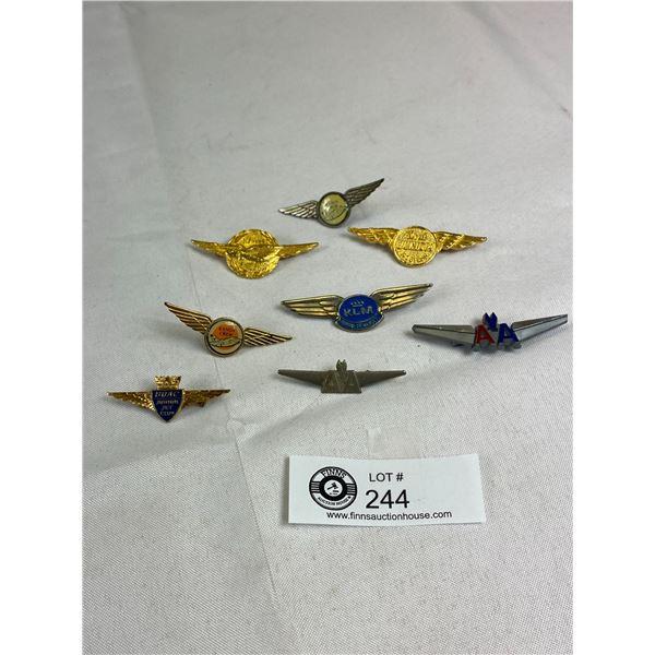 Vintage Airline Junior Pilot and Stewardess Pins Badges
