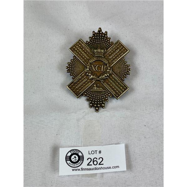 Large Military British Army Highlanders Cap Badge