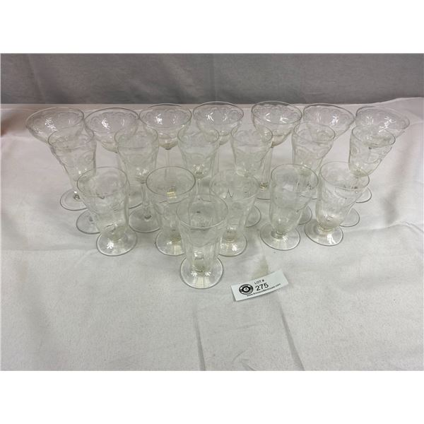 19 Very Nice Etched Glass Glasses