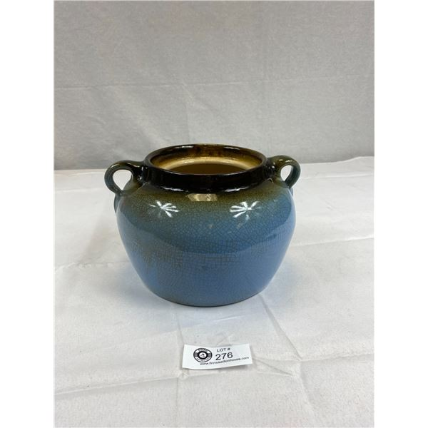 Rare Blue Vintage Medalta Double Handle Bean Pot Without Lid. Nice Conditon for Age