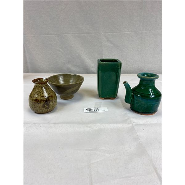 Very Nice Mixed Lot of 4 Vintage Pottery Pieces all In Good Condition