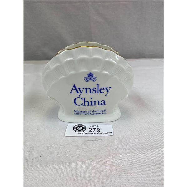 "Aynsley Bone China Store Display  5""w x4""t x 2"" D"