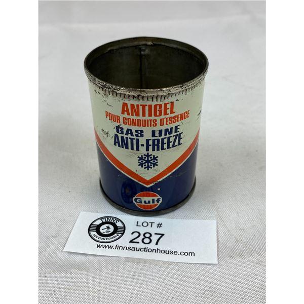 Gulf Oil 4 oz Oil Tin/ Gas Line Antifreeze