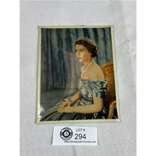 """1950's Queen Celluloid Sign 6"""" x 5"""" Rare"""