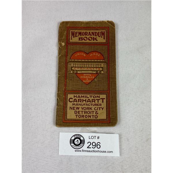1920's Carhartt;s Mini Book