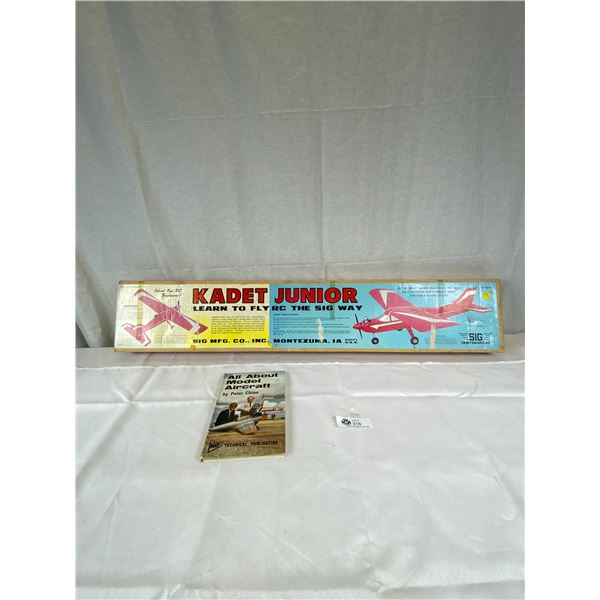 Kadet Junior unused Complete plane model   Model Aircraft book