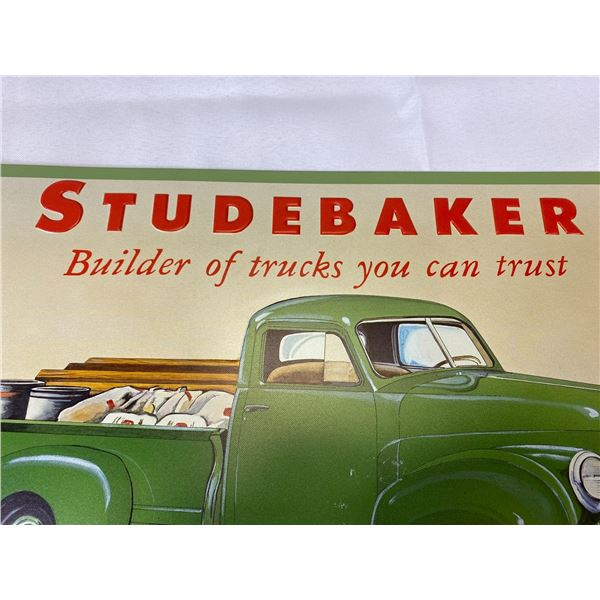 16 X 10 Studabaker Tin Sign