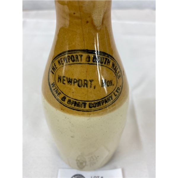 Vintage Antique Ginger Beer Bottle Newport Mon.