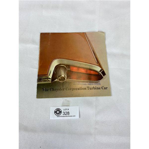 Very Hard to find The Chrysler Corporation Turbine Car Pamphlet