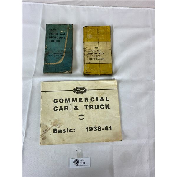 Nice Lot of 3 Car Manuels from 1960's