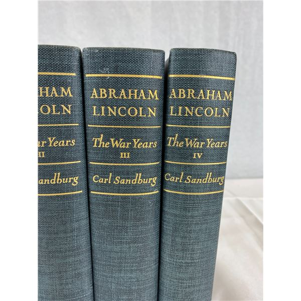 Volume 1-4 Abraham Lincon The War Years Hardcover Books