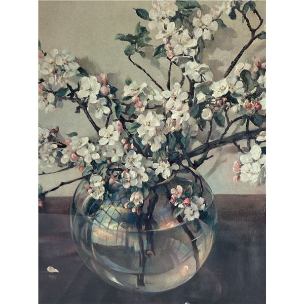 Mid Century Modern Cherry Blossom Picture from Woodwards Very Nice