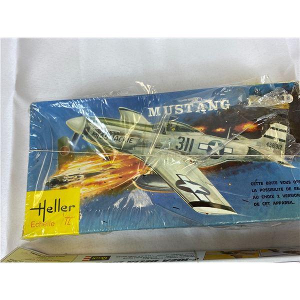 2 Models Complete in Original Boxes Mustang p51 & Delta Dagger