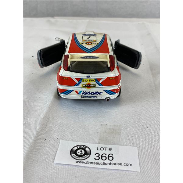 1:24 Scale Ford Focus Diecast Rally Car