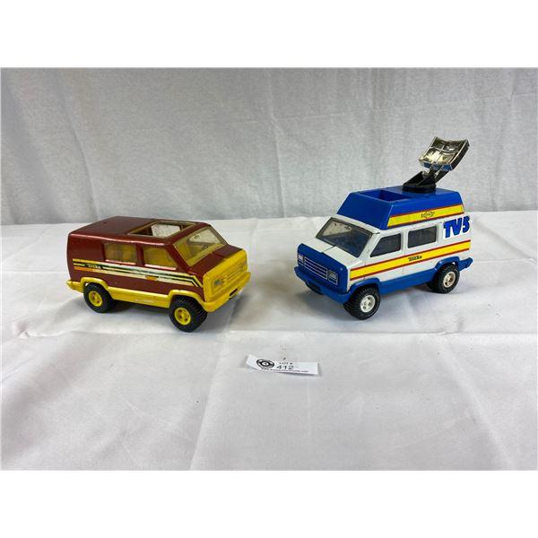 2 Vintage Tonka Vans