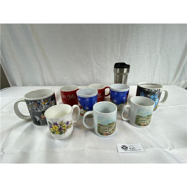 Lot of Coffee Mugs Disney, Travel etc