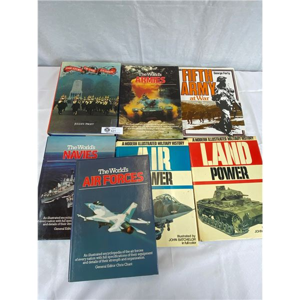 Nice Lot of 7 Hardcover books Military Related