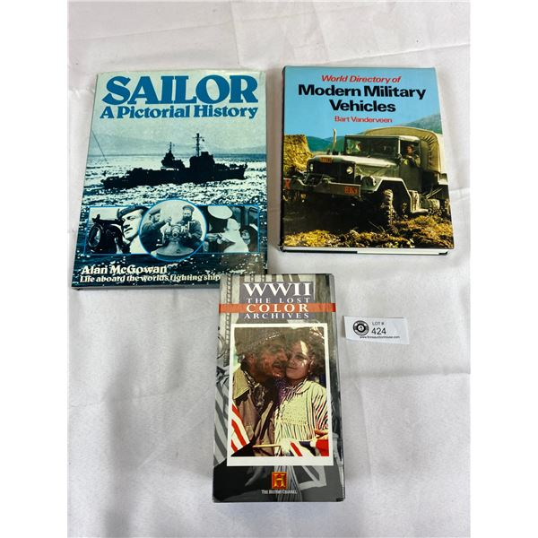 Military Collectable lot of sailors modern vehicles and vhs