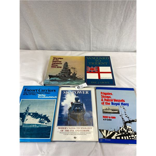 Nice lot of 5 Hardcover books with sleeves about military