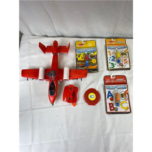 View finder with slides plus water wow books for kids and toy plane