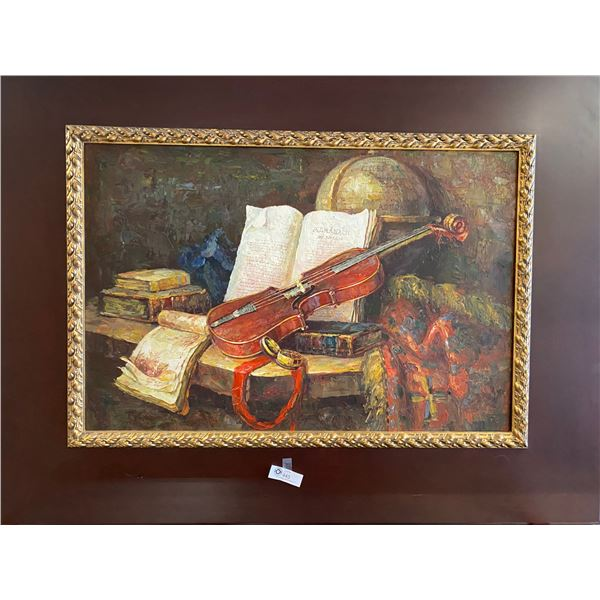 Very Nice 52 x 40 x 3 Painting Solid Wood Frame Canvas in Middle [Local Pickup]