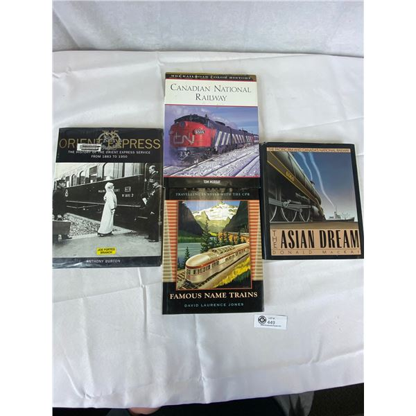 Nice Lot of Hardcover Books on Trains