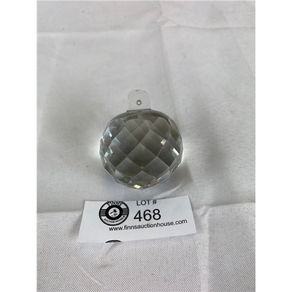 2in Tall Heavy Hanging Crystal Ball