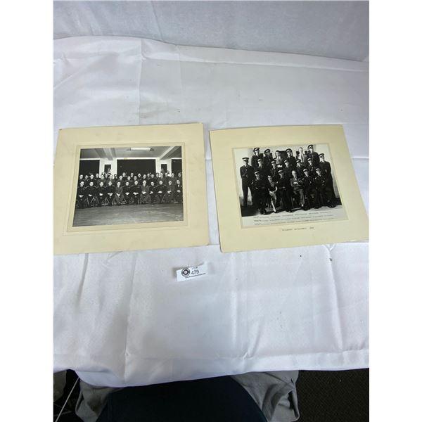 2 Vintage RCMP Photographs 1955 14 x 12