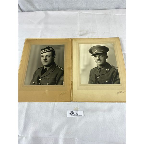 2 Large Photos Canadian Soldier 8 x 10