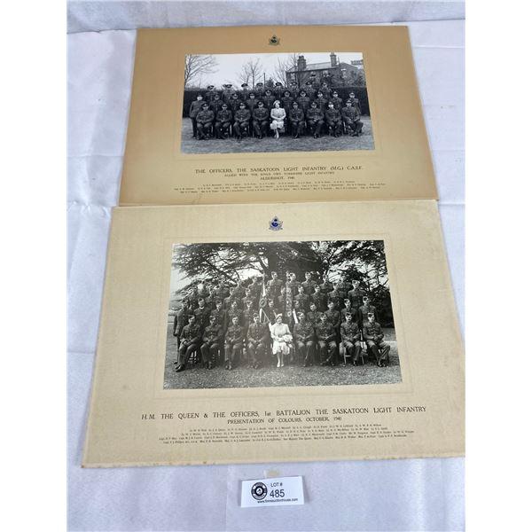 WW2 1940 + 1941 Saskatoon light infantry light photograph 18 x 13