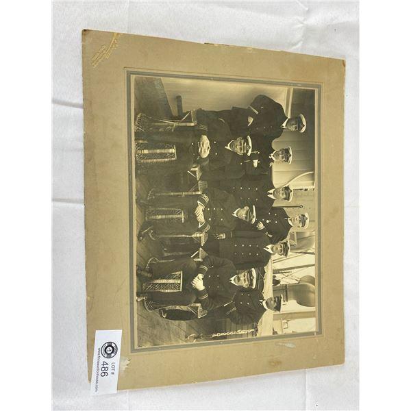 Very Nice Vintage Photot graph 14 x 12 steamship officers very nice