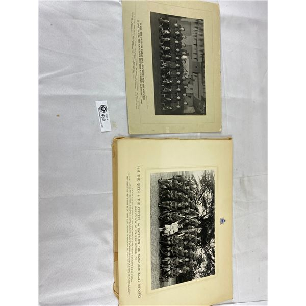 WW2 1945 The Princess Royal Batallion Photograph plus 1941 saskatoon light infantry photograp 18x13