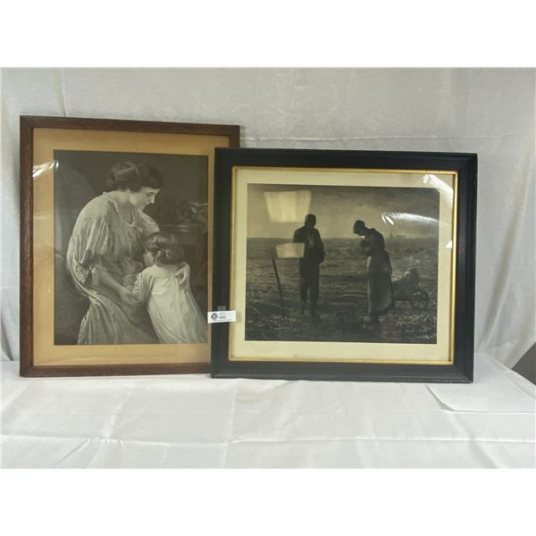 2 Large framed Vintage Photographs 20x24 and 24x22
