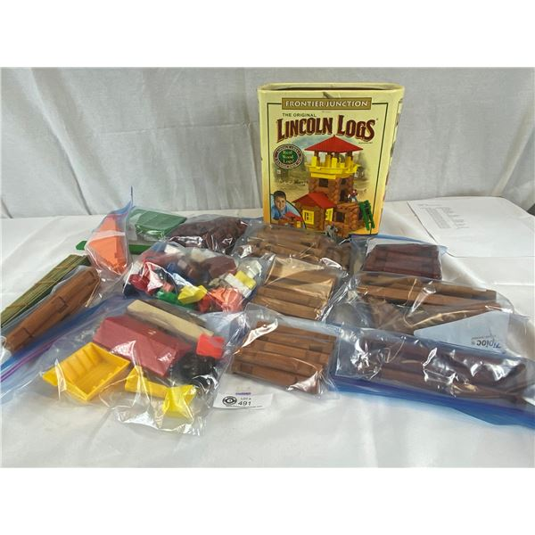 The Original Lincon Logs with Original Box and Pieces