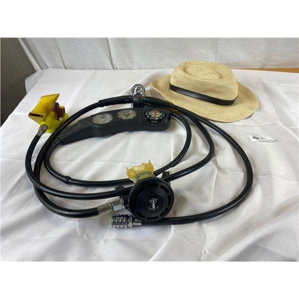 John Deer Hat + Scuba Diver Regulator hoses