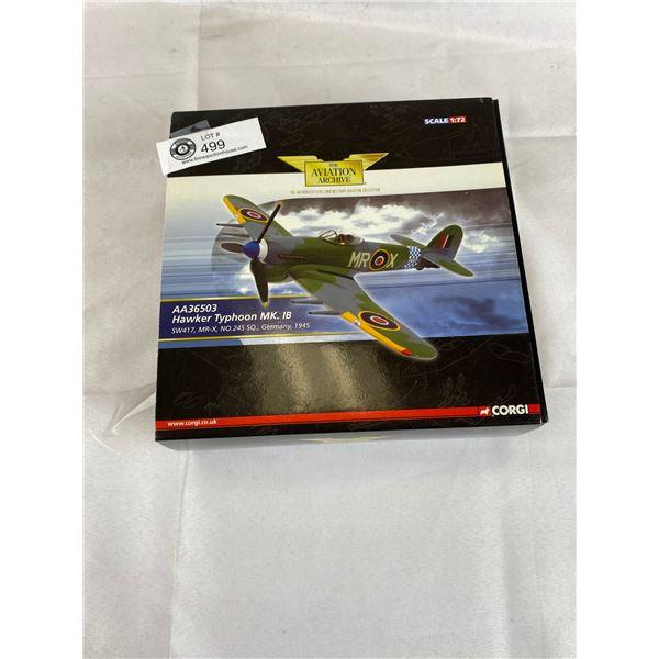 Nice Corgi 1:72 scale hawker typhoon diecast plane in original box