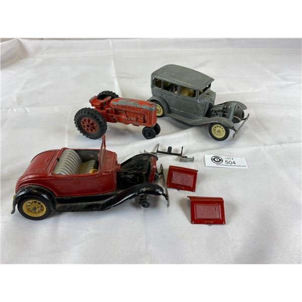 Lot of diecast vehicles as found tractors and cars