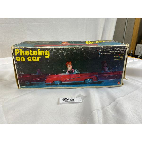 Vintage Battery operated car in original Box