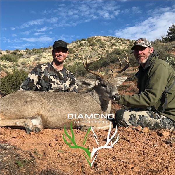 Diamond Outfitters 5 day Muzzleloader hunt for Coues Deer/Mtn Lion for 2 hunters.