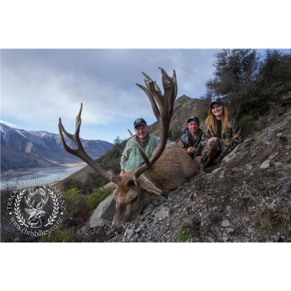 New Zealand 5 day hunt for red Stag with Chris Bilkey's Track and Trail Safaris