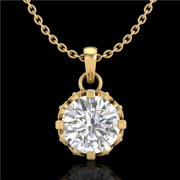 0.85 ctw VS/SI Diamond Art Deco Stud Necklace 18k Yellow Gold - REF-138Y4X
