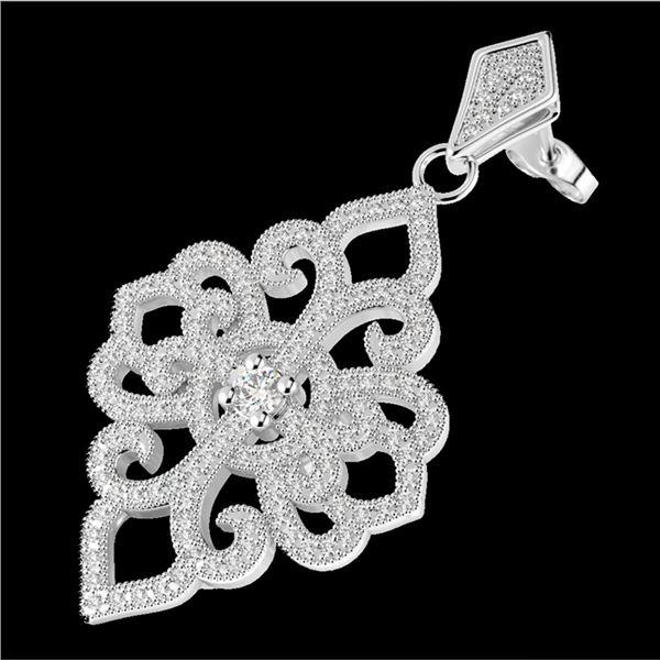 2.50 ctw Micro Pave VS/SI Diamond Designer Earrings 14k White Gold - REF-236M4G