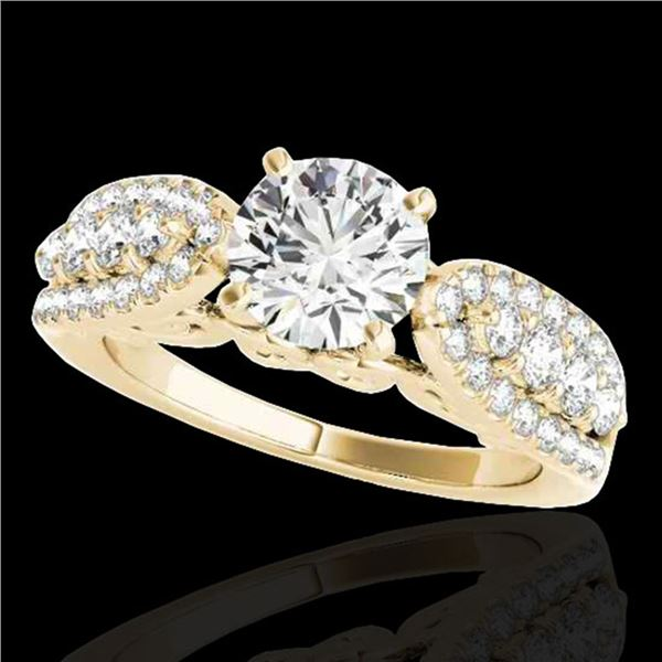 2 ctw Certified Diamond Solitaire Ring 10k Yellow Gold - REF-259K3Y