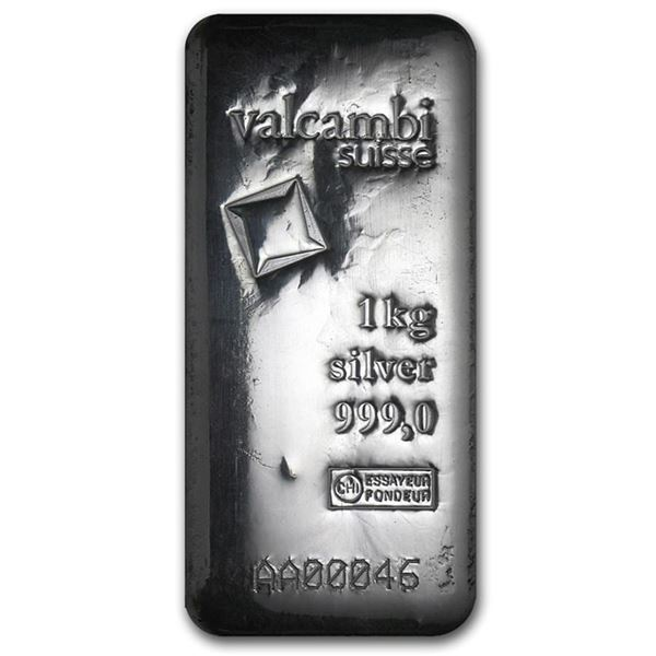 One piece 1 kilo 0.999 Fine Silver Bar Valcambi with Assay - 86730