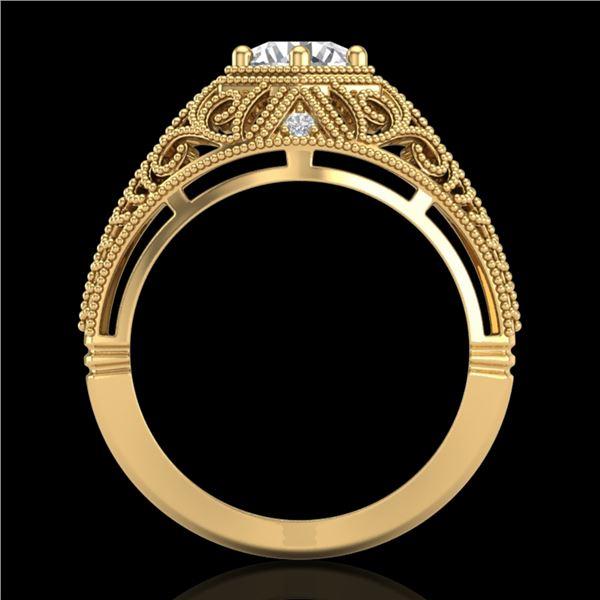 1.07 ctw VS/SI Diamond Solitaire Art Deco Ring 18k Yellow Gold - REF-322K5Y