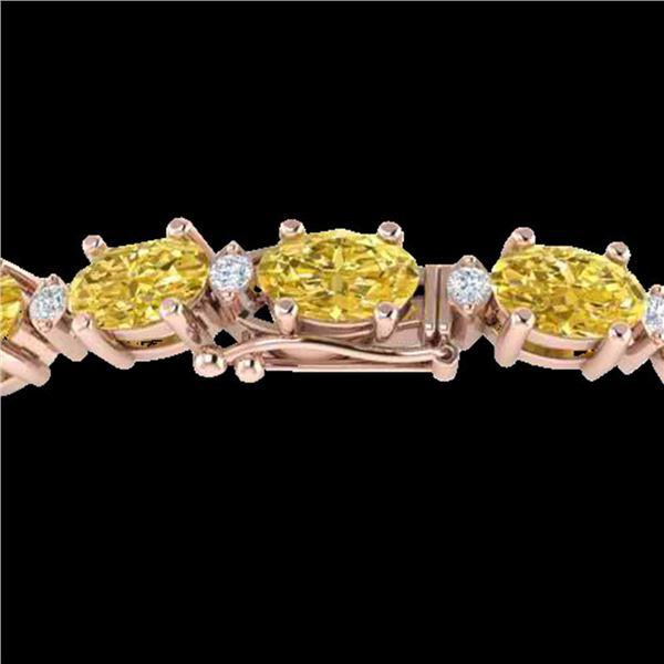 19.7 ctw Citrine & VS/SI Diamond Eternity Bracelet 10k Rose Gold - REF-98R2K