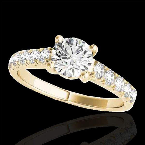 1.55 ctw Certified Diamond Solitaire Ring 10k Yellow Gold - REF-245K5Y