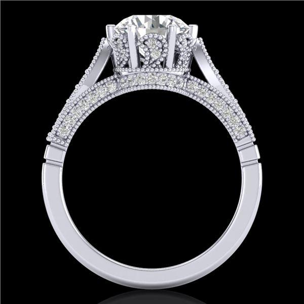 2.2 ctw VS/SI Diamond Art Deco Ring 18k White Gold - REF-725H5R