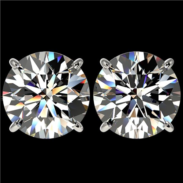 5 ctw Certified Quality Diamond Stud Earrings 10k White Gold - REF-1212A8N