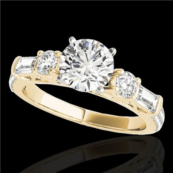 2 ctw Certified Diamond Pave Solitaire Ring 10k Yellow Gold - REF-231K8Y